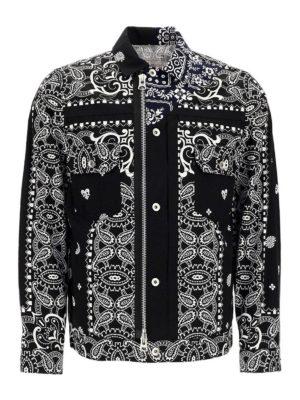 Sacai: casual jackets - Paisley print cotton jacket