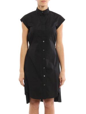 Sacai: knee length dresses online - Pleated back shirt dress