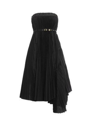 Sacai: Knee length skirts & Midi - Asymmetric pleated skirt