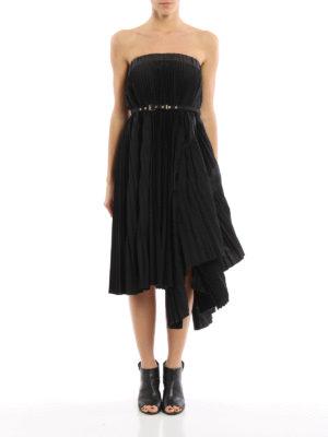 Sacai: Knee length skirts & Midi online - Asymmetric pleated skirt