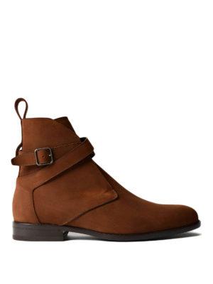 Saint Laurent: ankle boots - Jodhpur nubuck booties