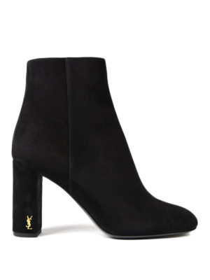 Saint Laurent: ankle boots - Loulou 95 suede ankle boots