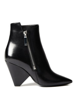 Saint Laurent: ankle boots - Niki leather ankle boots