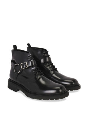 Saint Laurent: ankle boots online - HARNESS LEATHER BOOTIES