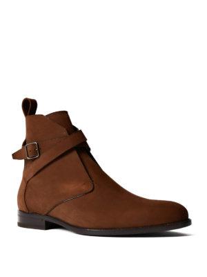 Saint Laurent: ankle boots online - Jodhpur nubuck booties