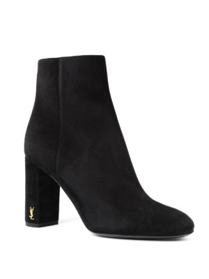 Saint Laurent: ankle boots online - Loulou 95 suede ankle boots