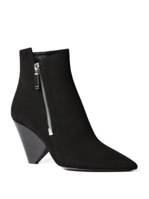 Saint Laurent: ankle boots online - Niki 85 asymmetric leather booties