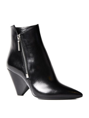 Saint Laurent: ankle boots online - Niki leather ankle boots