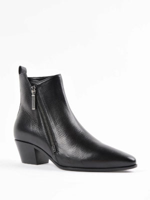 Saint Laurent: ankle boots online - Rock leather bootie