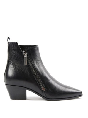 Saint Laurent: ankle boots - Rock leather bootie