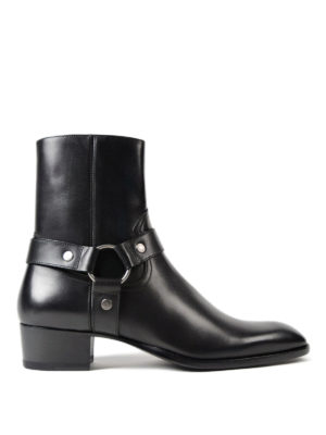 Saint Laurent: ankle boots - Wyatt 40 black leather booties