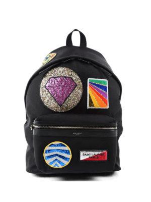 Saint Laurent: backpacks - City multi-patch backpack