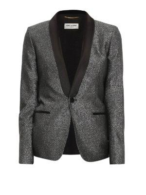 Saint Laurent: blazers - Lurex tuxedo blazer