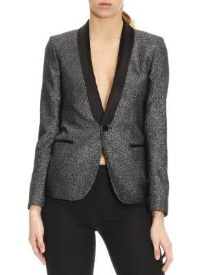 Saint Laurent: blazers online - Lurex tuxedo blazer