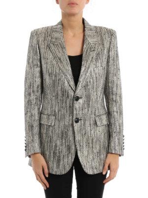 Saint Laurent: blazers online - New Angie metallized long jacket