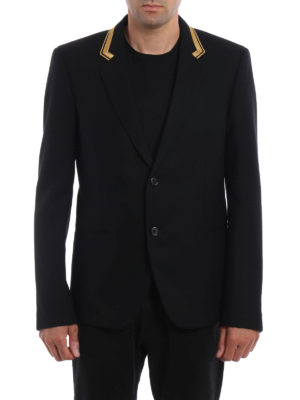 Saint Laurent: blazers online - Wool blazer with lurex embroidery