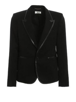 SAINT LAURENT: blazers - Wool gabardine blazer