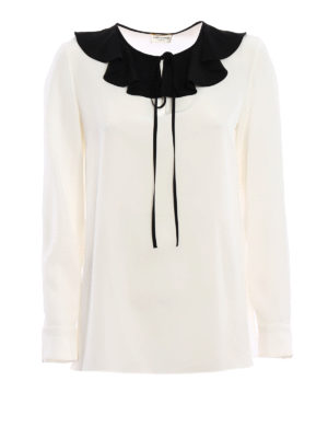 Saint Laurent: blouses - Crepe de chine blouse