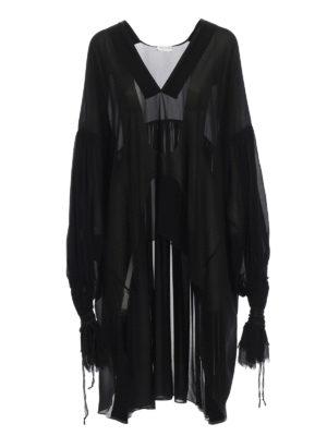 Saint Laurent: blouses - Georgette asymmetric blouse