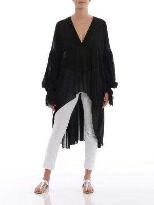 Saint Laurent: blouses online - Georgette asymmetric blouse