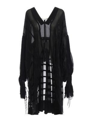 SAINT LAURENT: bluse - Blusa in chiffon e raso di seta