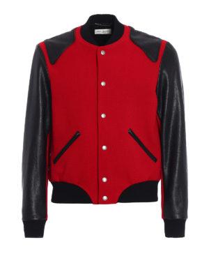Saint Laurent: bombers - Heaven wool blend bomber jacket