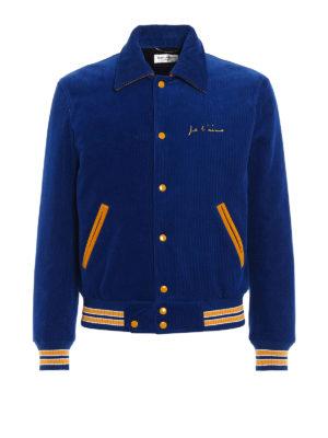 Saint Laurent: bombers - Je T'Aime corduroy teddy jacket