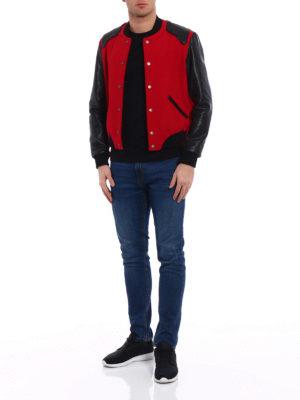 Saint Laurent: bombers online - Heaven wool blend bomber jacket