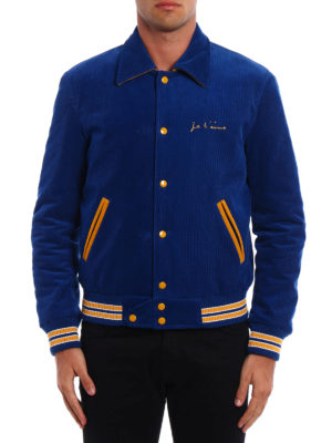 Saint Laurent: bombers online - Je T'Aime corduroy teddy jacket