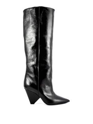 Saint Laurent: boots - Leather Niki boots