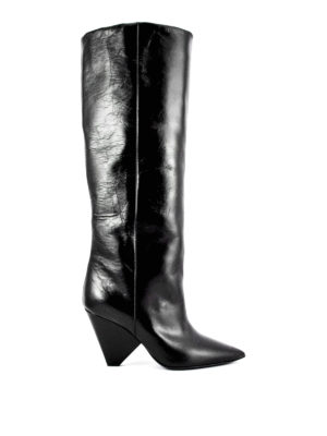Saint Laurent: boots - Leather Niki boots