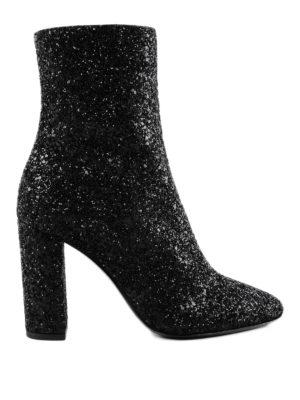 SAINT LAURENT: stivali - Stivaletti Lou 95 glitterati