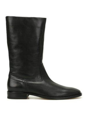 Saint Laurent: boots - Matt leather boots