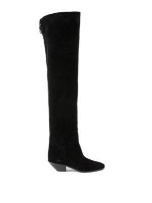 SAINT LAURENT: stivali - Stivali West in camoscio