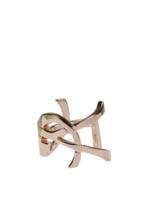 Saint Laurent: Bracelets & Bangles - Monogram signature bangle