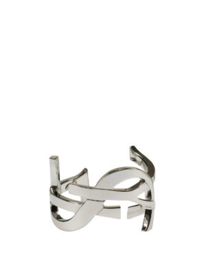 Saint Laurent: Bracelets & Bangles online - Monogram signature bangle