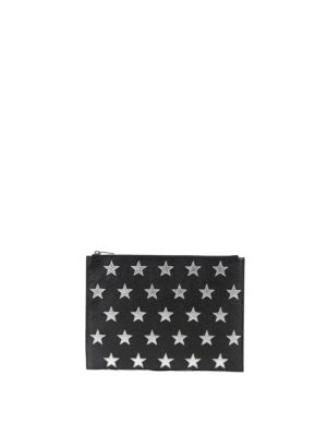 Saint Laurent: Cases & Covers - California star patch pouch