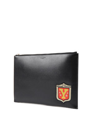 Saint Laurent: Cases & Covers online - YSL patch leather tablet case