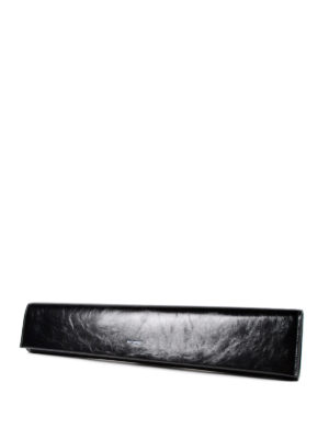 Saint Laurent: clutches online - Fetiche leather long clutch