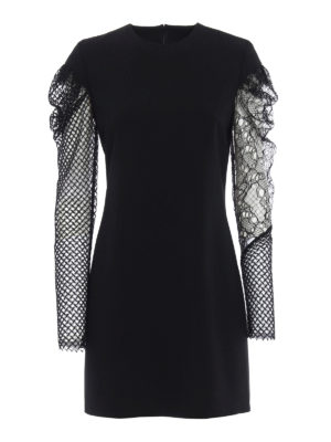 Saint Laurent: cocktail dresses - Long sheer sleeve sheath dress