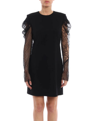Saint Laurent: cocktail dresses online - Long sheer sleeve sheath dress