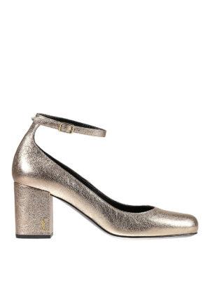 Saint Laurent: court shoes - Babies 70 crackle leather pumps