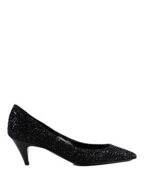 SAINT LAURENT: scarpe décolleté - Decolleté Charlotte 55 glitterate