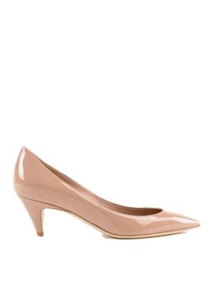 SAINT LAURENT: scarpe décolleté - Décolleté Charlotte color nude