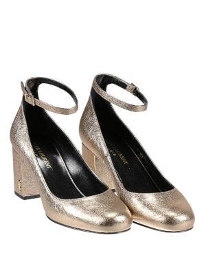 Saint Laurent: court shoes online - Babies 70 crackle leather pumps