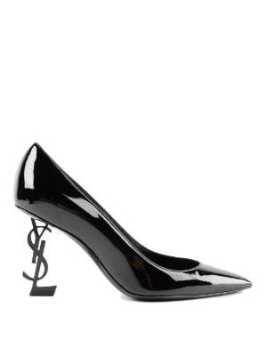 SAINT LAURENT: scarpe décolleté - Décolleté in vernice Opyum 85 tacco scultura