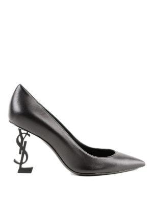 SAINT LAURENT: scarpe décolleté - Décolleté a punta Opyum 85 Ysl in pelle