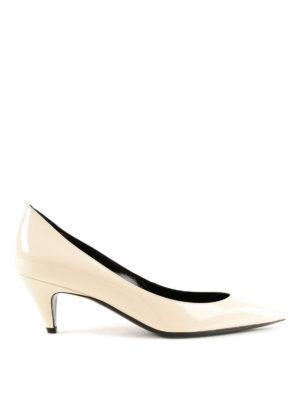 SAINT LAURENT: scarpe décolleté - Décolleté Charlotte in vernice