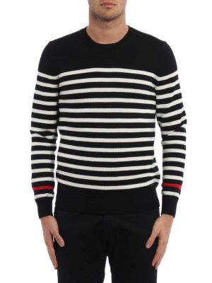 Saint Laurent: crew necks online - Striped wool crew neck pullover