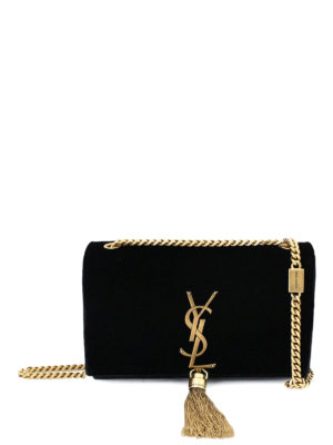 Saint Laurent: cross body bags - Kate small velvet cross body bag